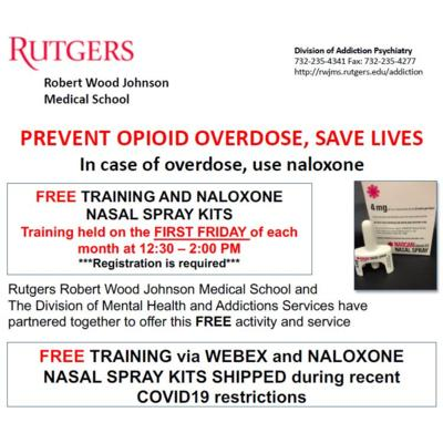 Prevent Opioid Overdose, Save Lives with FREE training and Naloxone Nasal Spray Kits