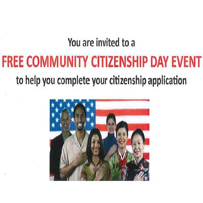 FREE Community Citizenship Day Event - Spanish and English flyers available