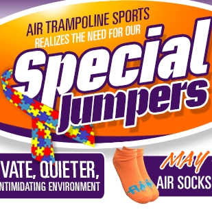 Special Needs Private Hour at Air Trampoline Sports