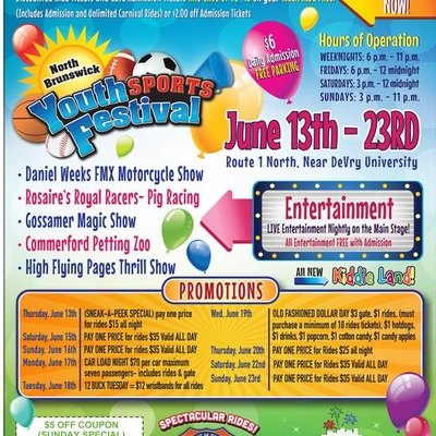 Youth Sports Festival June 13th - 23rd