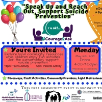 Speak Up and Reach Out, Support Suicide Prevention - May 6th